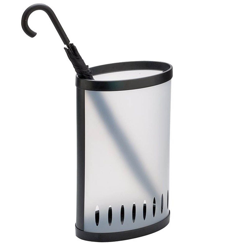 Image for ALBA UMBRELLA BIN FROSTED WHITE from Office Products Depot