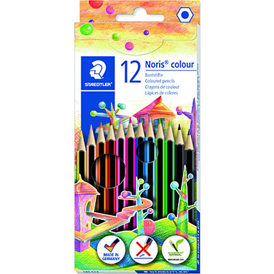 Image for STAEDTLER 185 NORIS COLOUR PENCILS ASSORTED BOX 12 from Office Products Depot Macarthur