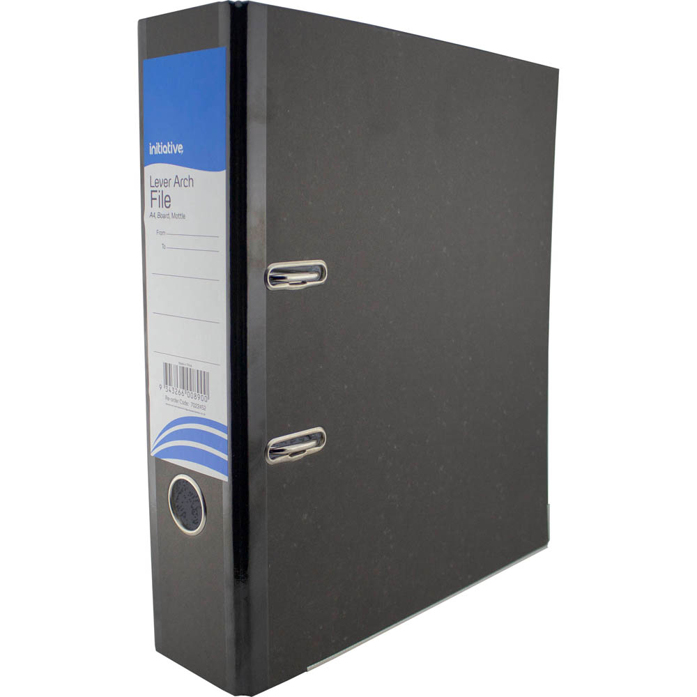 Image for INITIATIVE LEVER ARCH FILE BOARD 75MM A4 BLACK from Ross Office Supplies Office Products Depot