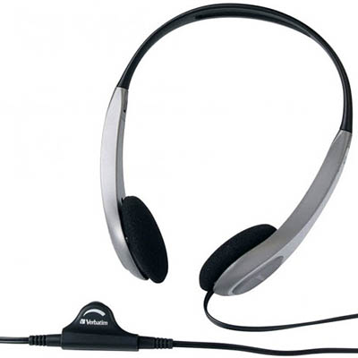 Image for VERBATIM HEADSET MULTIMEDIA WITH VOLUME CONTROL SILVER/BLACK from Office Products Depot
