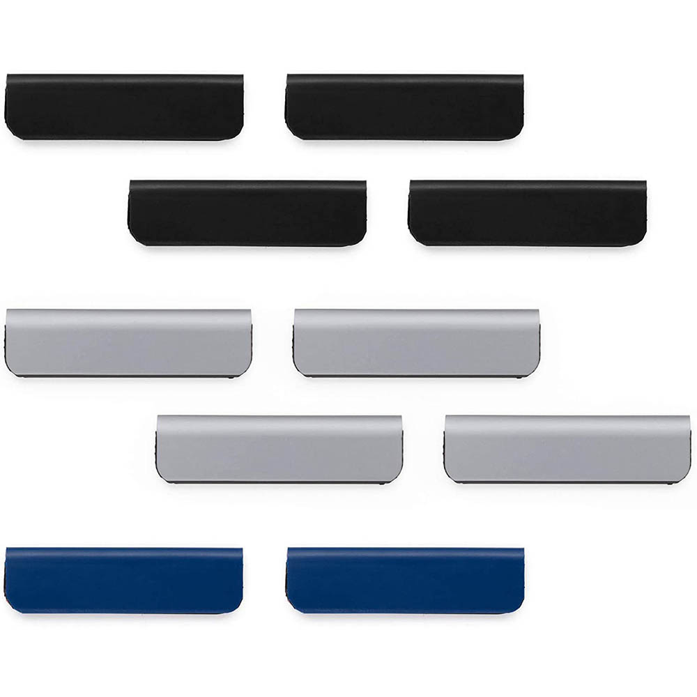 Image for DURABLE DURAFIX CLIP SELF-ADHESIVE MAGNETIC CLIP 60MM ASSORTED PACK 10 from Office Products Depot