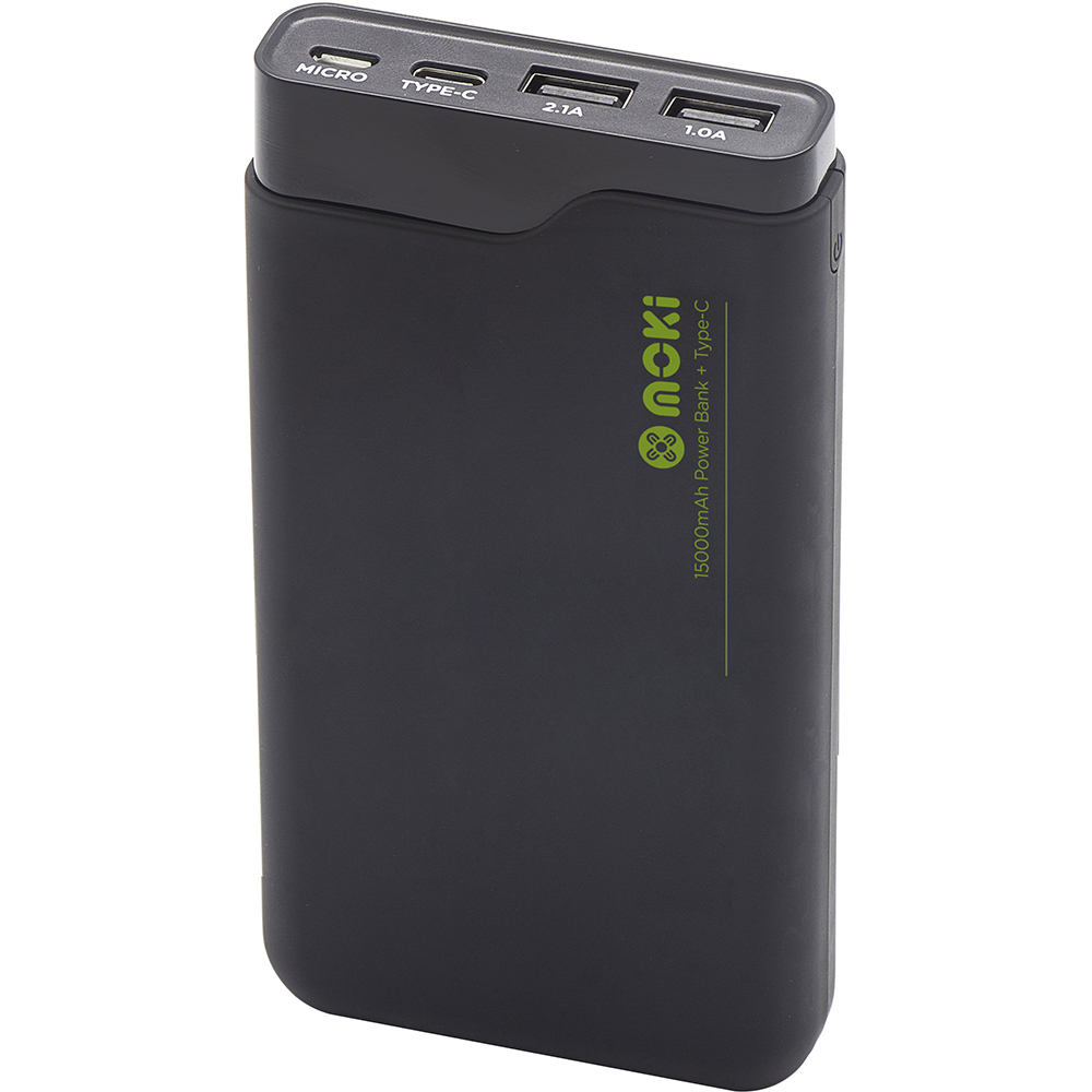 Image for MOKI POWERBANK 15000MAH TYPE-C + USB BLACK from Ross Office Supplies Office Products Depot