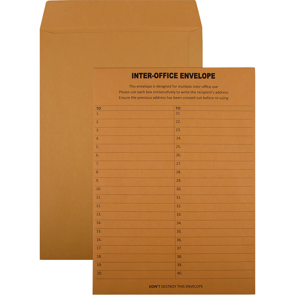 Image for CUMBERLAND C4 ENVELOPES INTEROFFICE POCKET UNGUMMED 100GSM 324 X 229MM GOLD BOX 250 from Office Products Depot