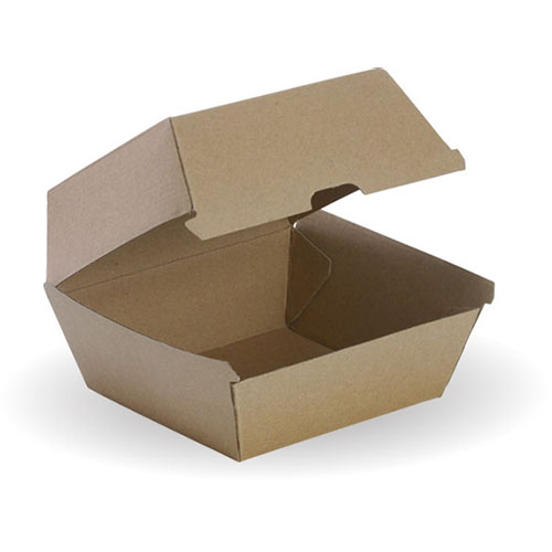 Image for BIOPAK BIOBOARD BURGER BOX BROWN PACK 50 from Office Products Depot Macarthur