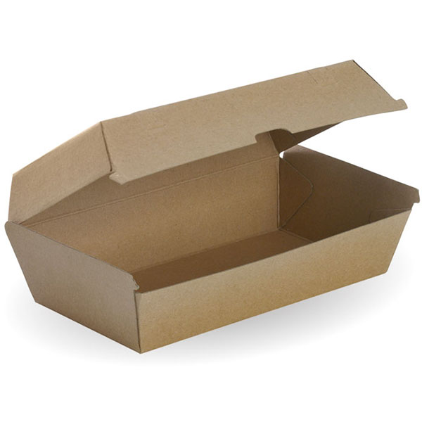 Image for BIOPAK BIOBOARD SNACK BOX LARGE BROWN PACK 50 from Office Products Depot Macarthur
