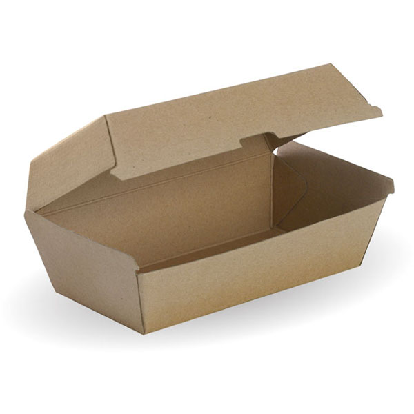 Image for BIOPAK BIOBOARD SNACK BOX REGULAR BROWN PACK 50 from Office Products Depot Macarthur