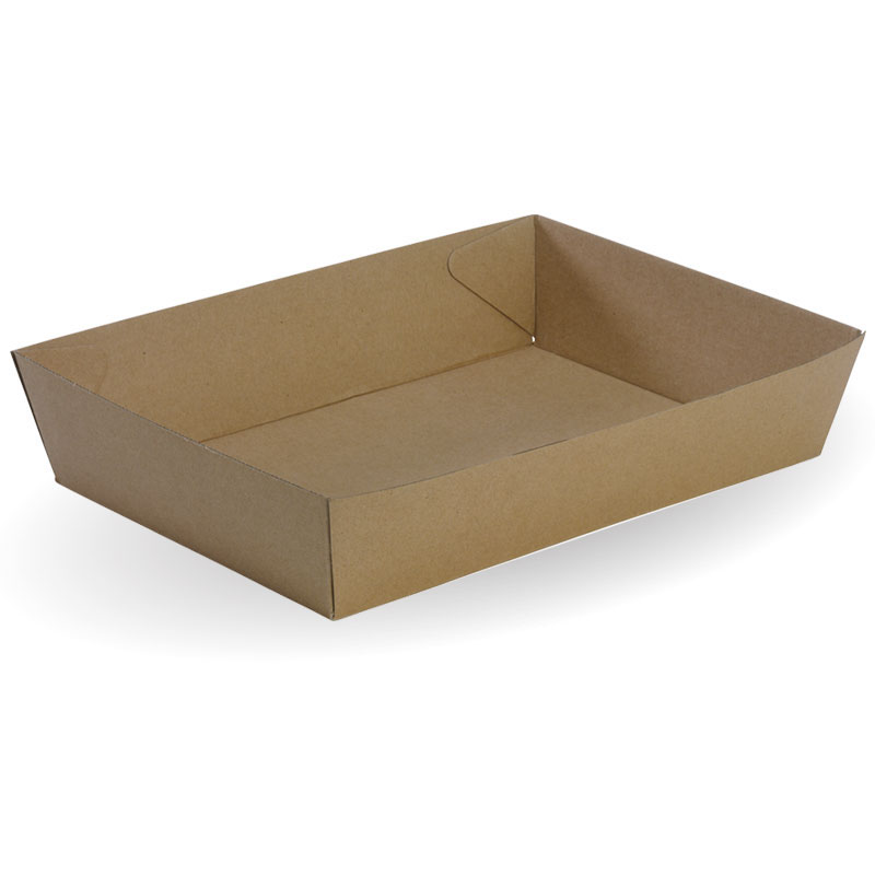 Image for BIOPAK BIOBOARD TRAY SIZE 5 BROWN CARTON 100 from Office Products Depot Macarthur