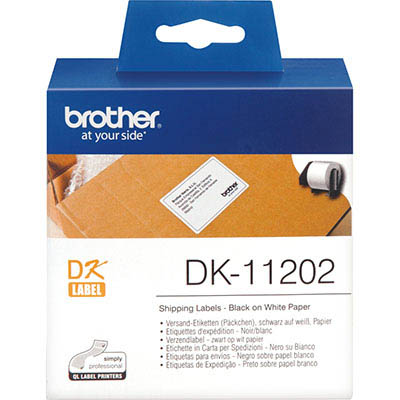 Image for BROTHER DK-11202 LABEL ROLL 62 X 100MM WHITE ROLL 300 from Office Products Depot