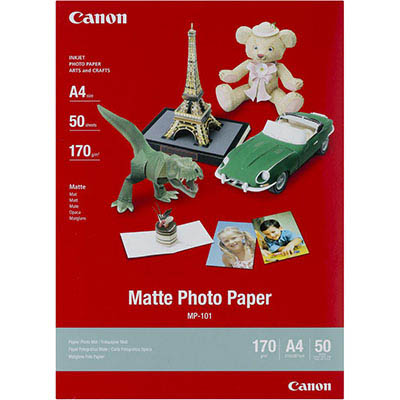 Image for CANON MP-101 MATTE PHOTO PAPER 170GSM A4 WHITE PACK 50 from Office Products Depot