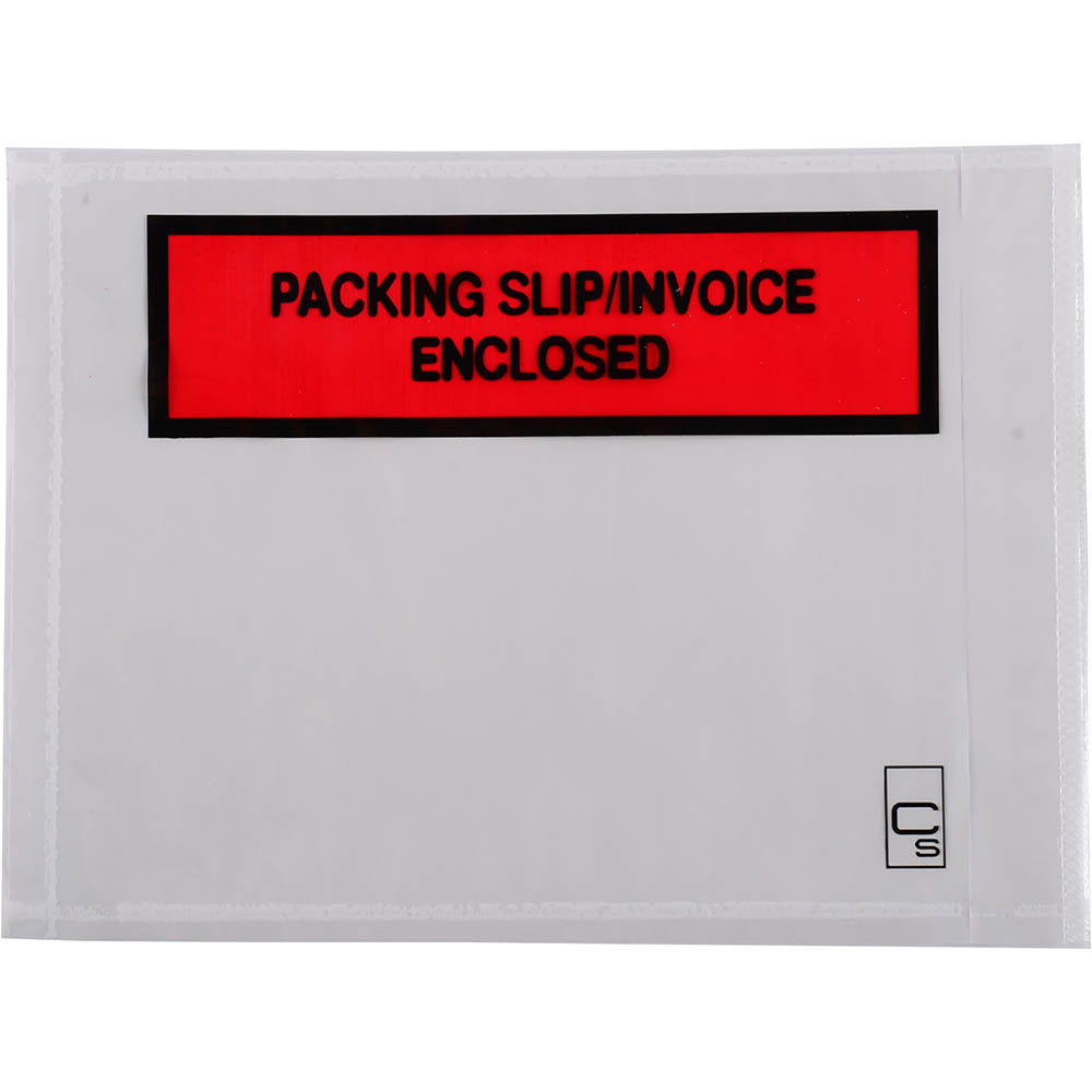 Image for CUMBERLAND PACKAGING ENVELOPE SLIP/INVOICE ENCLOSED 155 X 115MM WHITE BOX 1000 from Office Products Depot