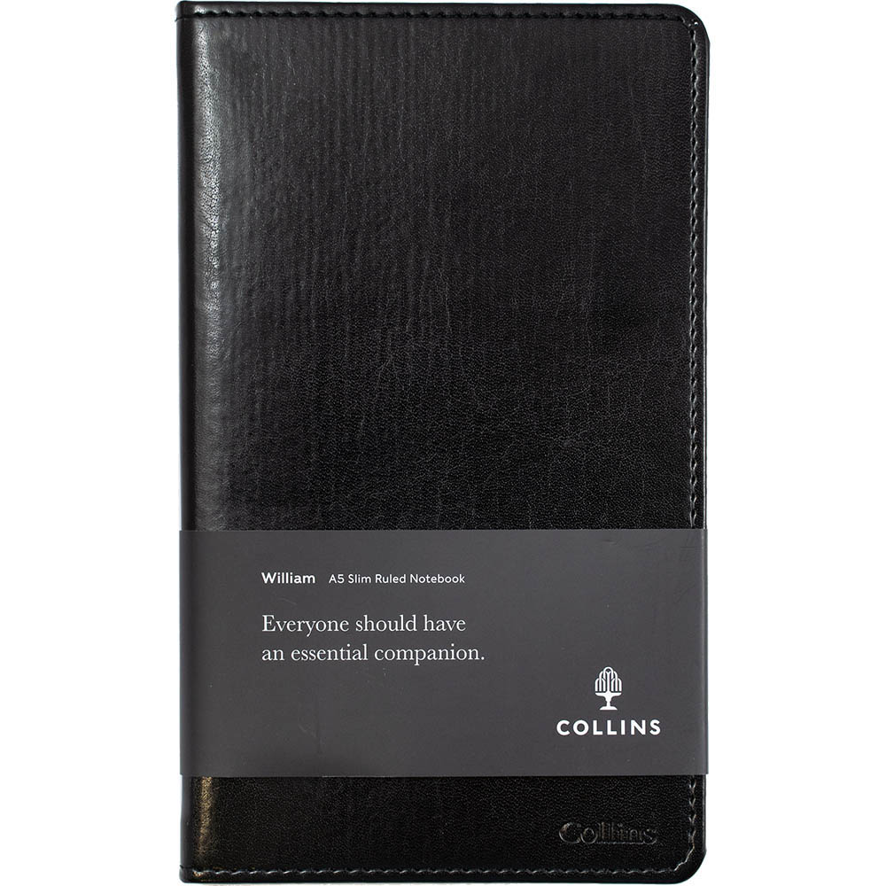 Image for COLLINS WILLIAM NOTEBOOK RULED 192 PAGE A5 BLACK from Office Products Depot