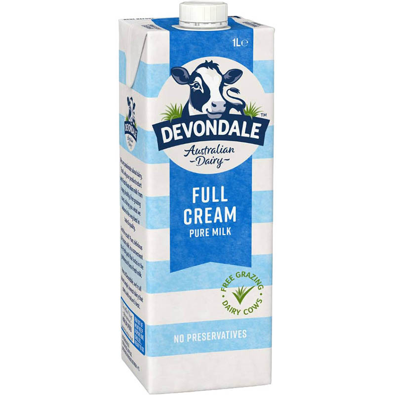 Image for DEVONDALE LONG LIFE FULL CREAM MILK 1 LITRE from Office Products Depot Macarthur