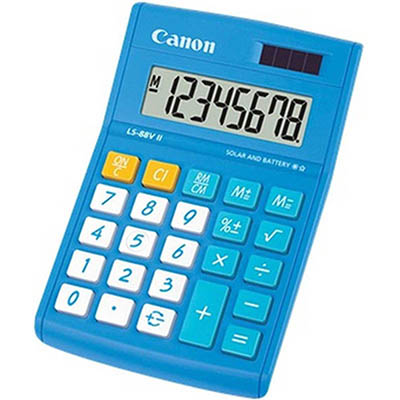 Image for CANON LS-88VII MINI DESKTOP CALCULATOR 8 DIGIT BLUE from Office Products Depot