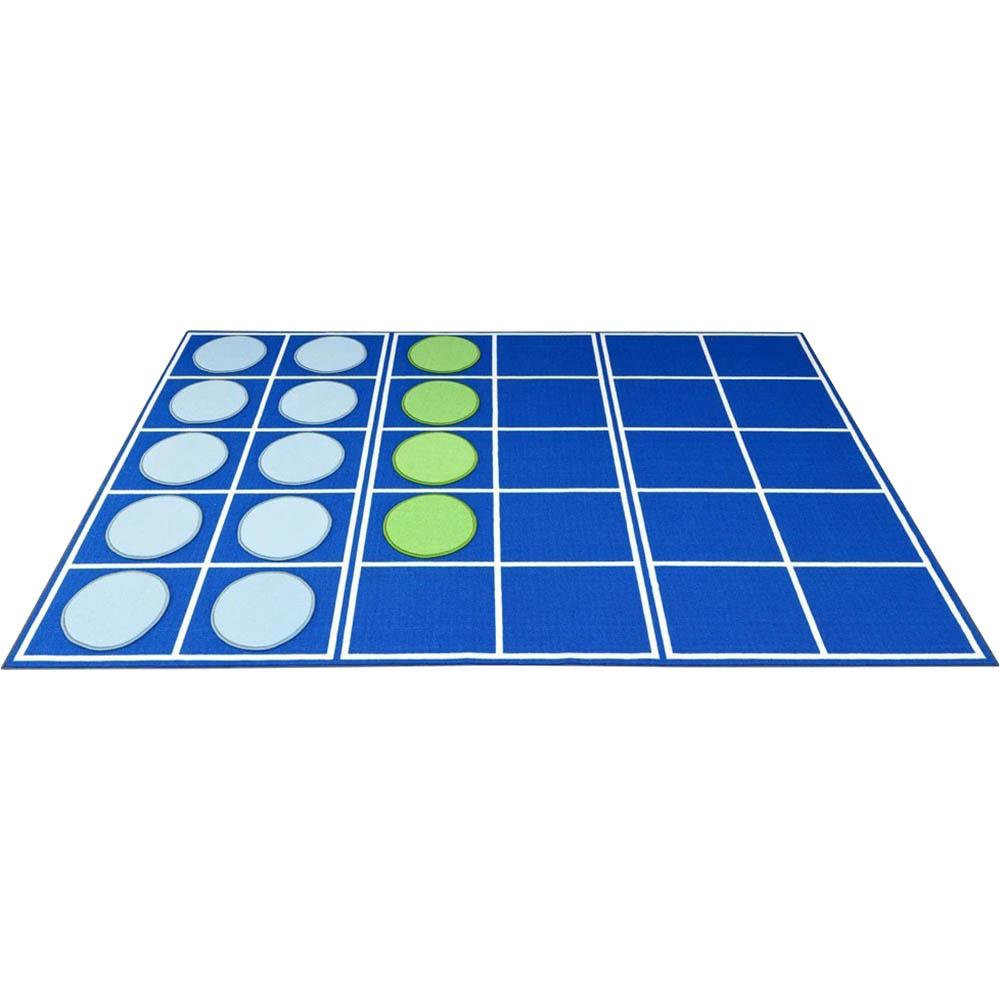 Image for ELIZABETH RICHARDS TEN FRAMES CARPET DISC RUG 3 X 2M BLUE from Office Products Depot