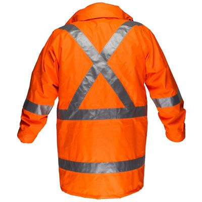 Image for PRIME MOVER MX306 MAX HI VIS RAIN JACKET WITH CROSSBACK TAPE from Office Products Depot