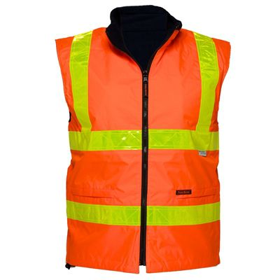 Image for PRIME MOVER MY214 WATERPROOF POLAR FLEECE LINED VEST REVERSIBLE WITH MICRO PRISM TAPE from Office Products Depot Macarthur