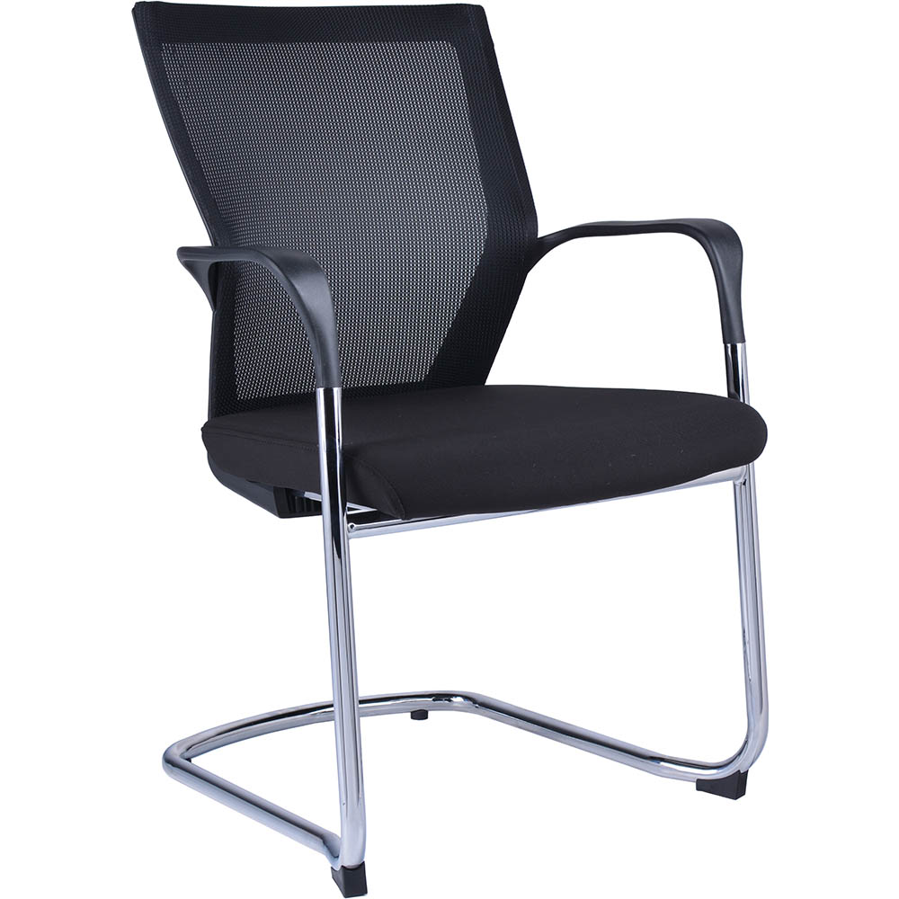 Image for SPENCER VISITOR CHAIR MESH BACK CANTILEVER BASE ARMS BLACK from Office Products Depot