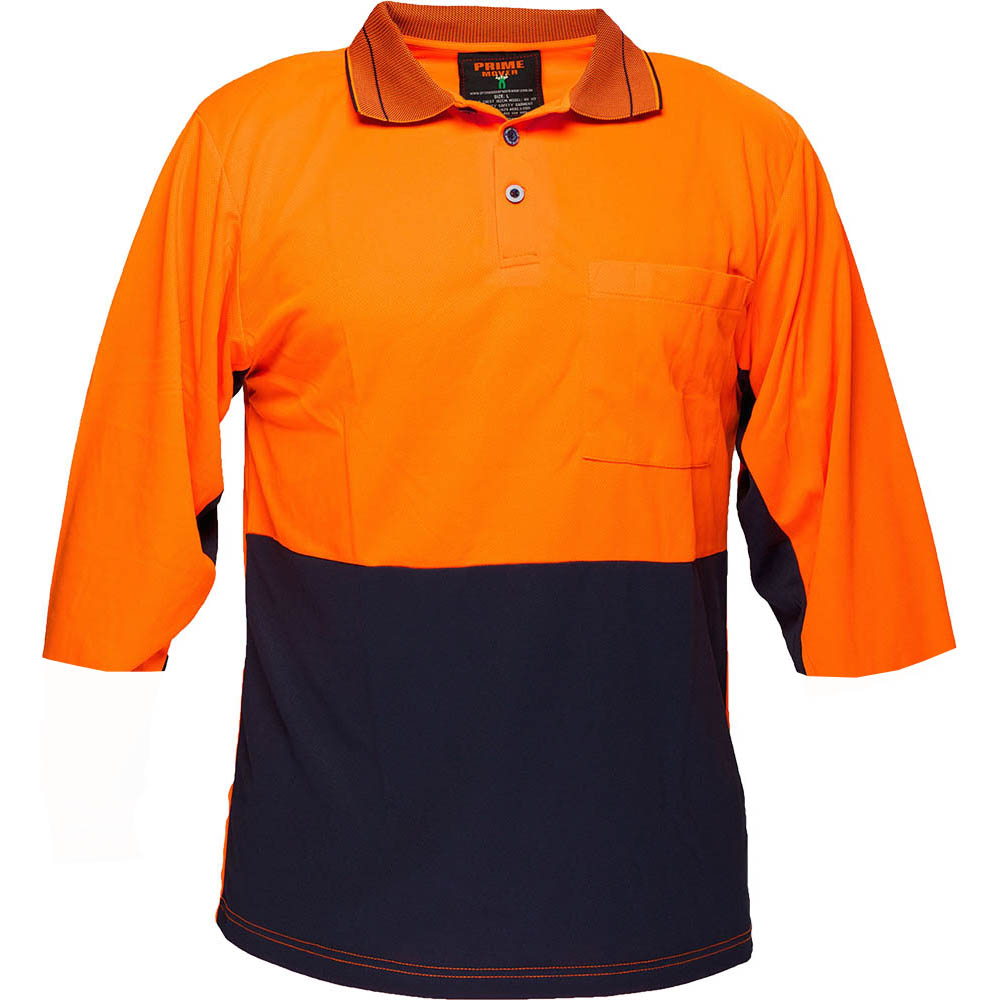 Image for PRIME MOVER MP113 TWO TONED MICRO MESH POLO SHIRT from Office Products Depot