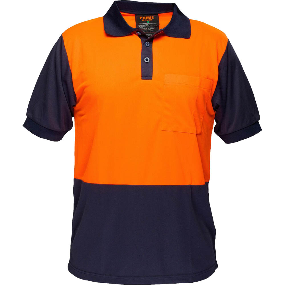 Image for PRIME MOVER MP152 TWO TONED MICRO MESH POLO SHIRT from Office Products Depot