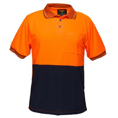 Image for PRIME MOVER HV210 HI VIS POLO SHIRT COTTON BACKED SHORT SLEEVE 2 TONE from Office Products Depot