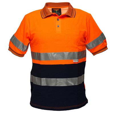 Image for PRIME MOVER MP310 HI VIS COTTON POLO SHIRT WITH TAPE SHORT SLEEVE 2 TONE from Office Products Depot