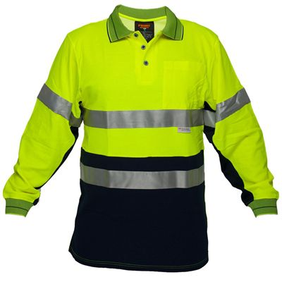 Image for PRIME MOVER MP313 HI VIS COTTON POLO SHIRT WITH TAPE 2 TONE from Office Products Depot