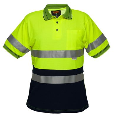 Image for PRIME MOVER MP510 HI VIS POLO SHIRT MICRO MESH SHORT SLEEVE TAPE 2 TONE from Office Products Depot