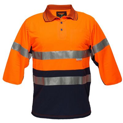 Image for PRIME MOVER MP513 HI VIS POLO SHIRT MICRO MESH WITH TAPE 2 TONE from Office Products Depot