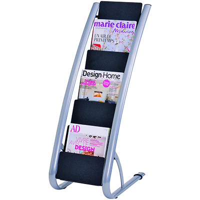 Image for ALBA FLOOR BROCHURE HOLDER STAND SINGLE 6 TIER from Office Products Depot