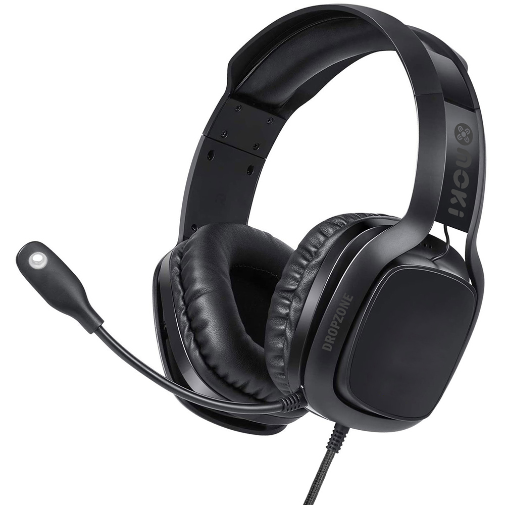 Image for MOKI DROPZONE GAMING HEADPHONES SHADOW BLACK from Ross Office Supplies Office Products Depot