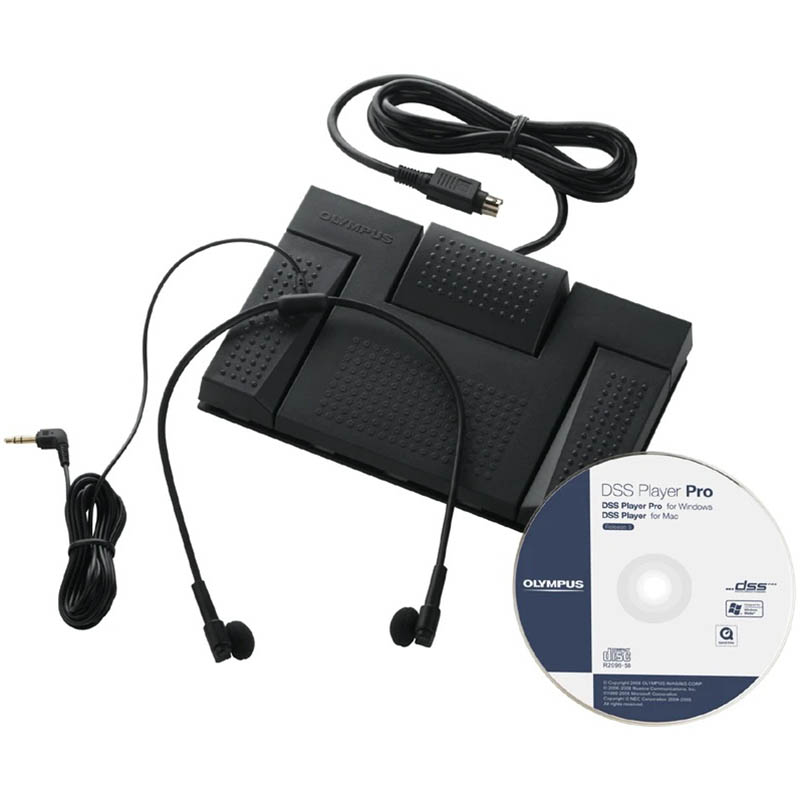 Image for OLYMPUS AS-2400 DIGITAL TRANSCRIPTION KIT BLACK from Office Products Depot