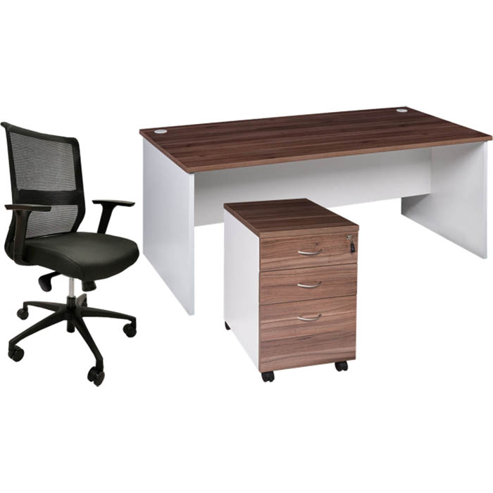 Image for OM PREMIER DESK PACKAGE CASNAN/WHITE from Office Products Depot