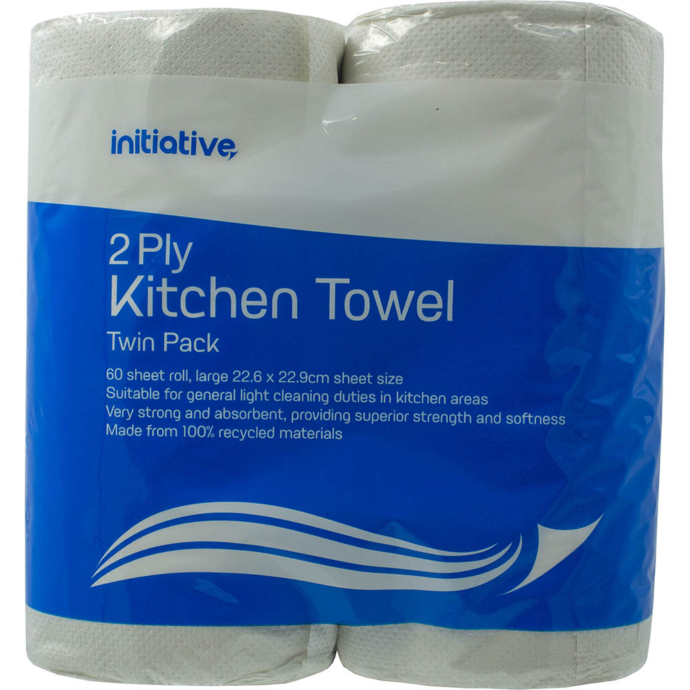 Image for INITIATIVE KITCHEN TOWEL 2 PLY 60 SHEETS PACK 2 from Office Products Depot