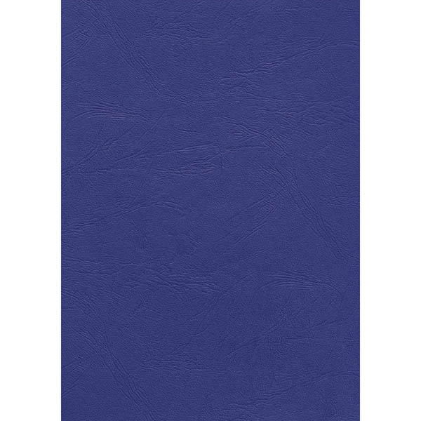 Image for INITIATIVE BINDING COVER LEATHERGRAIN 350GSM A4 BLUE PACK 100 from Office Products Depot