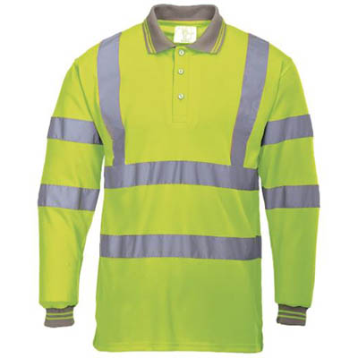 Image for PORTWEST S277 HI-VIS POLO SHIRT LONG SLEEVED from Office Products Depot