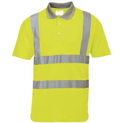 Image for PORTWEST S477 HI-VIS POLO SHIRT SHORT SLEEVE from Office Products Depot
