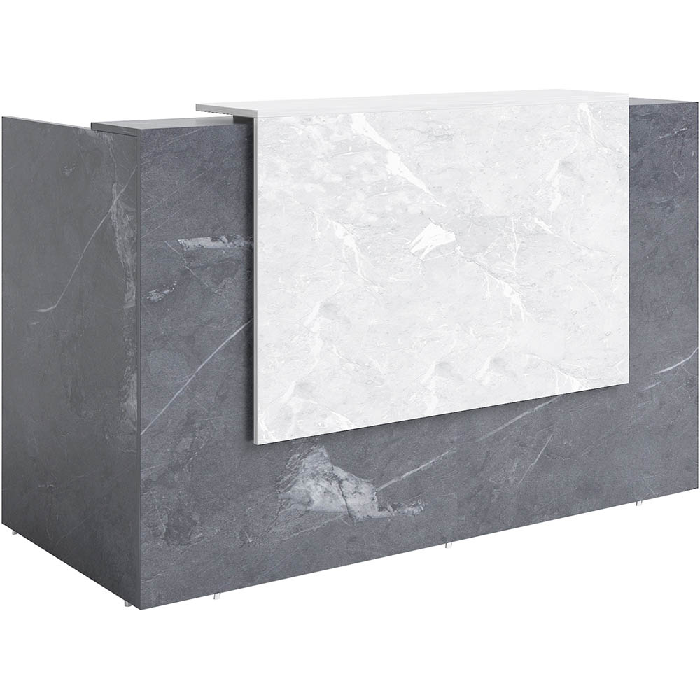 Image for SORRENTO RECEPTION COUNTER DESK 1800 X 840 X 1150MM MARBLE CHARCOAL/MARBLE GREY from Office Products Depot