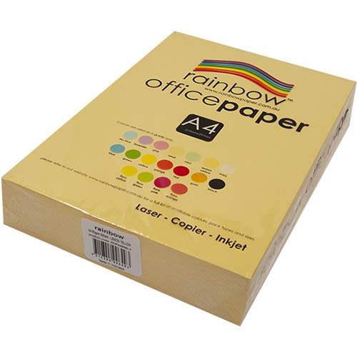 Image for RAINBOW COLOURED A4 COPY PAPER 80GSM 500 SHEETS LEMON YELLOW from Ross Office Supplies Office Products Depot
