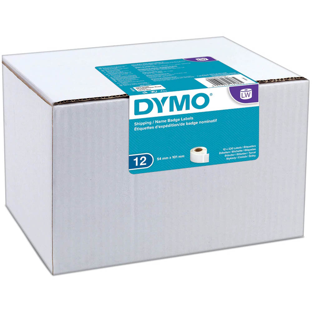 Image for DYMO 0722420 LW ADDRESS LABELS 54 X 101MM WHITE ROLL 220 BOX 12 from Total Supplies Pty Ltd