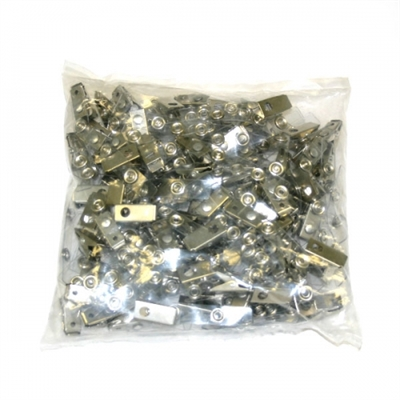Image for GOLD SOVEREIGN ALLIGATOR CLIPS WITH STRAPS FOR ID POUCHES PACK 100 from Office Products Depot Macarthur