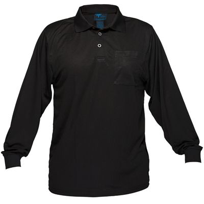 Image for PRIME MOVER MP103 MICRO MESH POLO SHIRT LONG SLEEVE from Office Products Depot