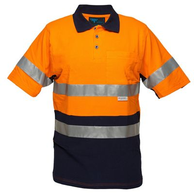Image for PRIME MOVER MP618 HI VIS COTTON PIQUE POLO SHIRT SHORT SLEEVE WITH TAPE 2 TONE from Office Products Depot