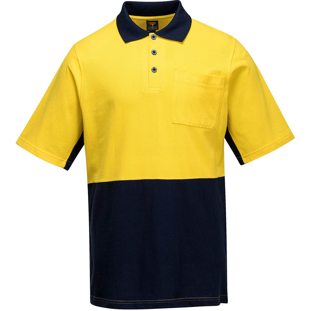 Image for PRIME MOVER MD618 HI-VIS POLO SHIRT SHORT SLEEVE COTTON PIQUE 2-TONE from Office Products Depot