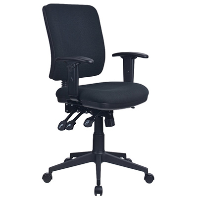 Image for INITIATIVE REJUVENATE ERGONOMIC HIGH BACK CHAIR ARMS BLACK from Office Products Depot