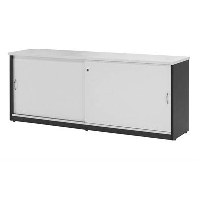 Image for OXLEY CREDENZA 1500 X 450 X 730MM WHITE/IRONSTONE from Office Products Depot