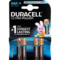 DURACELL ULTRA ALKALINE AAA BATTERY PACK 4
