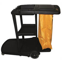 CLEANLINK 3 TIER JANITOR CART WITH LID