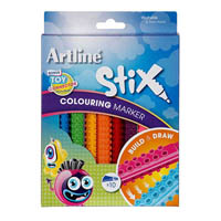 ARTLINE STIX COLOURING MARKER PACK 10