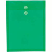 TUDOR STRING AND BUTTON ENVELOPES A4 GREEN