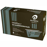 OLYMPIC 100% RECYCLED EASY GLIDE SUSPENSION FILES WITH TABS/INSERTS GREEN PACK 50